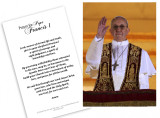 Pope Francis Giving Blessing Holy Card