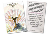 Eucharist RCIA Holy Card