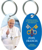 Pope Francis Thumbs Up Commemorative Apostolic Journey Keychain