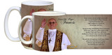 Pope Francis giving Blessing with Prayer Mug