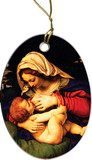 Our Lady of the Green Cushion Ornament