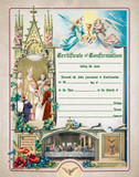 Traditional Confirmation Sacrament Certificate with Bishop Unframed