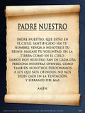 Spanish The Lord's Prayer Poster