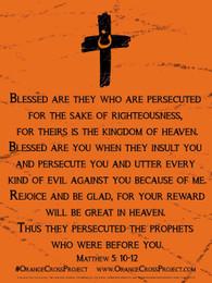 Orange Cross Project Poster