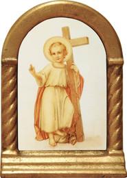 Christ Child with Cross Desk Shrine