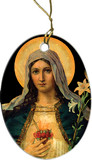 Antique Immaculate Heart Ornament