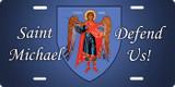 St. Michael (blue) License Plate