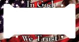 In God We Trust Plate Frame