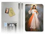 Divine Mercy with Sacred Heart Magnet