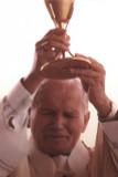 Saint John Paul the Great Raising Chalice Holy Card