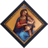 Madonna of Foligno Detail - Dark Ornate Framed Art