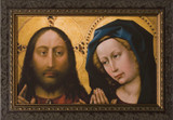 Medieval Mary with Christ - Ornate Framed Art