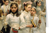 After the First Holy Communion (Detail 3 Girls) Greeting Card