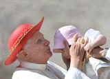 Pope Benedict XVI Kissing an Infant Dozen Postcards