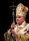 Pope Benedict XVI with Paschal Staff Dozen Postcards