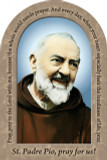 St. Padre Pio Prayer Arched Magnet