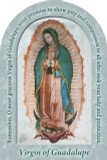 Our Lady of Guadalupe Prayer Arched Magnet