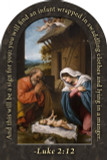 Nativity Prayer Arched Magnet