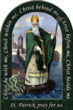 St. Patrick Prayer Arched Magnet