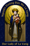 Our Lady of La Vang Prayer Arched Magnet