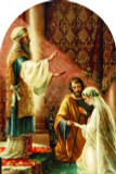 Wedding of Joseph and Mary Arched Magnet