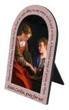 St. Cecilia Prayer Arched Desk Plaque