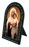 Madonna of the Roses Prayer Arched Desk Plaque