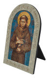 St. Francis of Assisi Prayer Arched Desk Plaque II