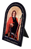 St. Florian Firefighter's Prayer Arched Desk Plaque