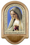 Our Lady of Fatima Prayer Holy Water Font