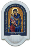 Our Lady of Good Health Prayer Holy Water Font