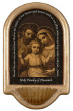 Holy Family of Nazareth Prayer Holy Water Font