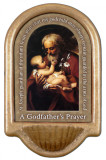 St. Joseph (Older) Godfather's Prayer Holy Water Font