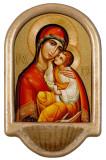 Byzantine Madonna Holy Water Font