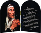 St. Monica Motherhood Arched Diptych
