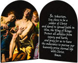 St. Sebastian Athlete's Prayer Arched Diptych