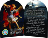 Coast Guard St. Michael I Arched Diptych