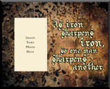 As Iron Sharpens Iron Picture Wall Plaque