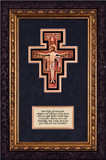 San Damiano Crucifix with Prayer - Framed Matted Print With Prayer