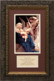 Song of the Angels by Bouguereau with Prayer - Matted Framed Art