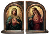 Sacred Heart & Immaculate Heart Surrounded By Angels Bookends