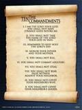 10 Commandments Scroll Poster