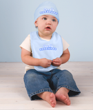 Cradle Catholic Baby Hat and Bib Set
