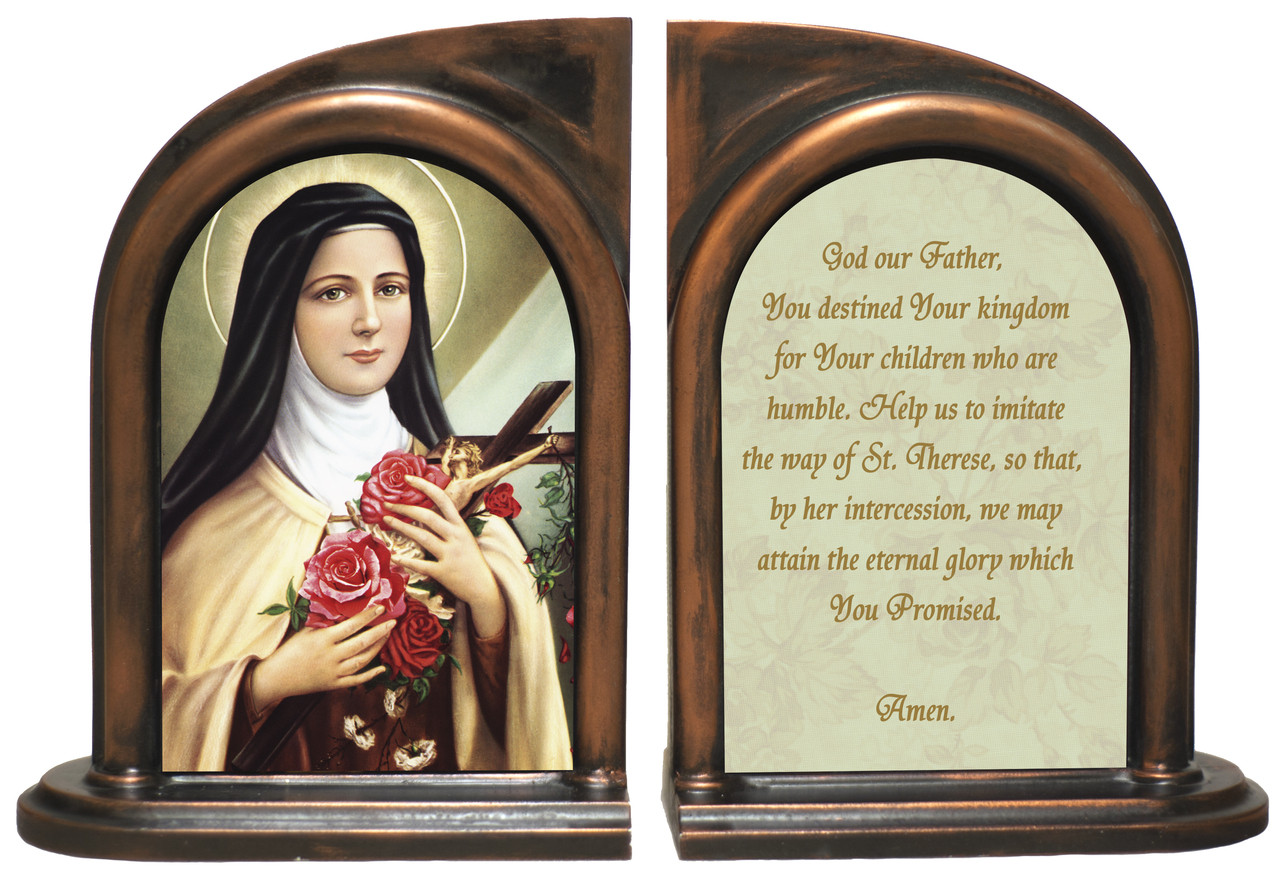 St Therese the Little Flower Bookends