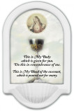 Chalice with Sacred Heart Holy Water Font