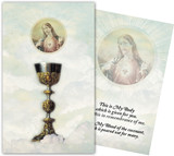 Chalice, with Sacred Heart Holy Card