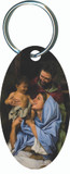 Holy Family II Oval Keychain