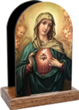 Immaculate Heart Surrounded by Angels Table Organizer (Vertical)