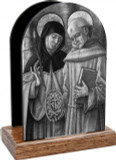 Sts. Catherine and Bernardino Table Organizer (Vertical)