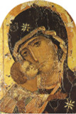 Our Lady of Vladimir Detail Arched Magnet
